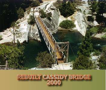 Cassidy Bridge after reconstruction, July, 2000.