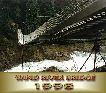 Wind River Bridge near the end of construction
